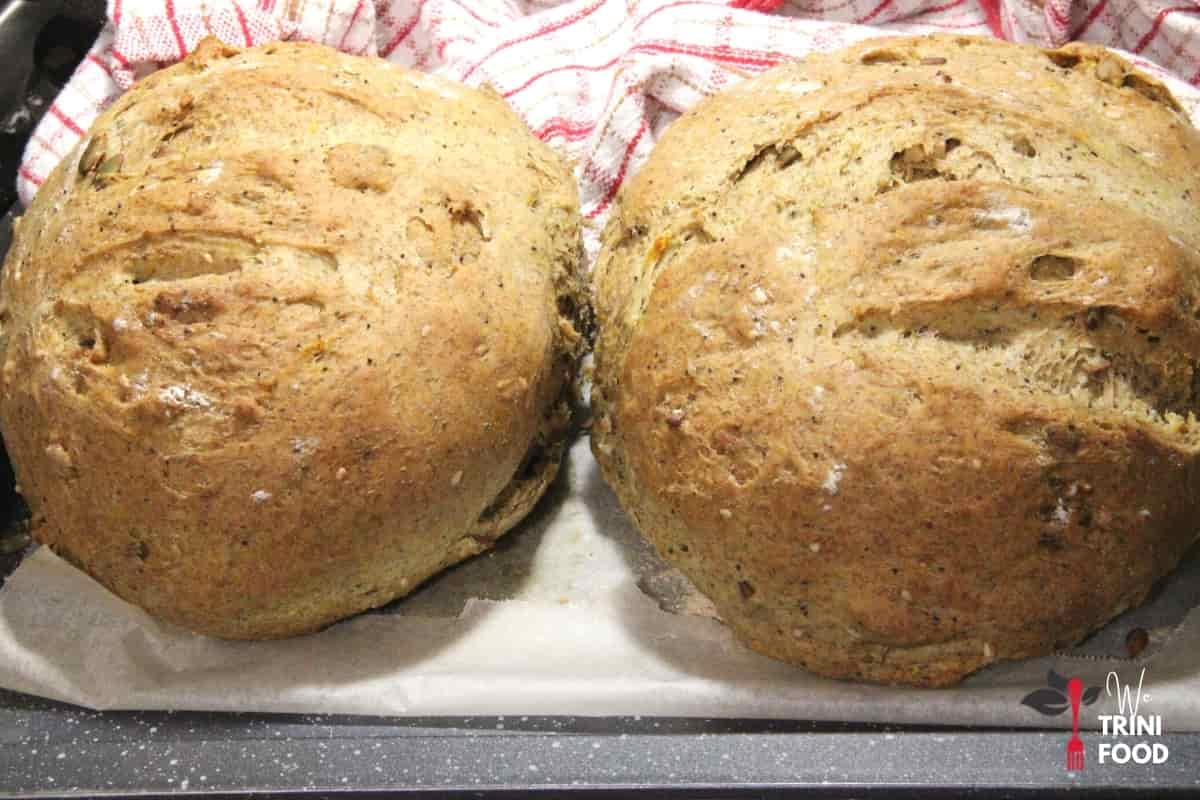 baked homemade whole wheat bread