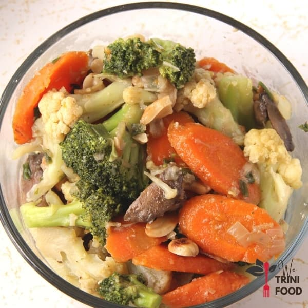 chunky vegetables with cashews featured