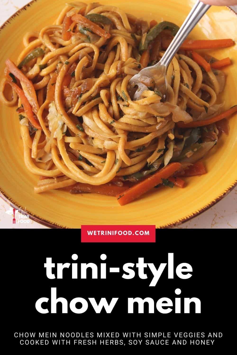 trini chow mein noodles recipe for pinterest