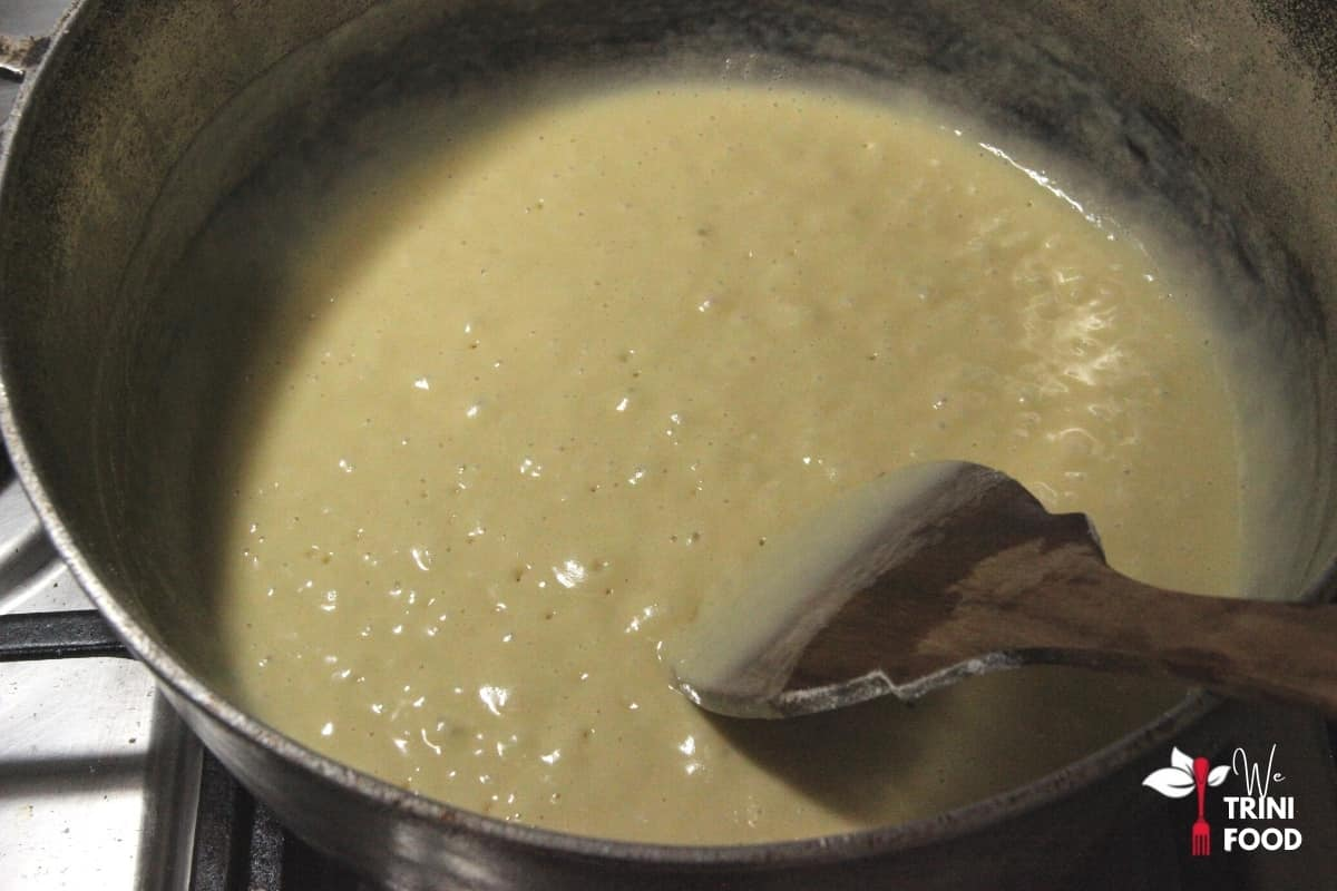cook flour and ghee on high heat