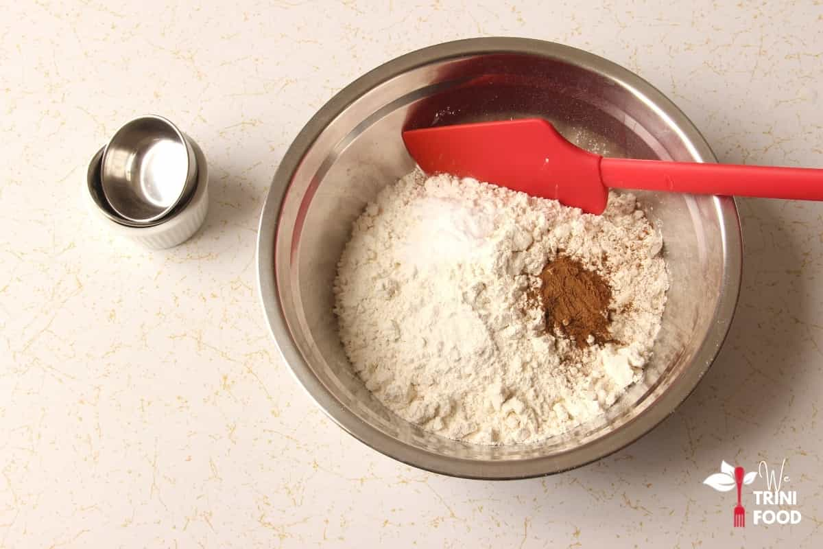 dry ingredients for banana bread without eggs