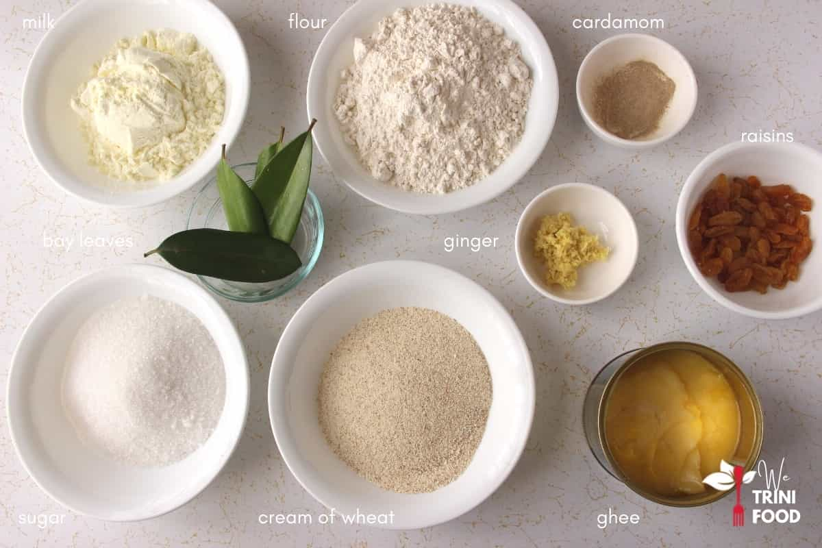 parsad ingredients with cream of wheat