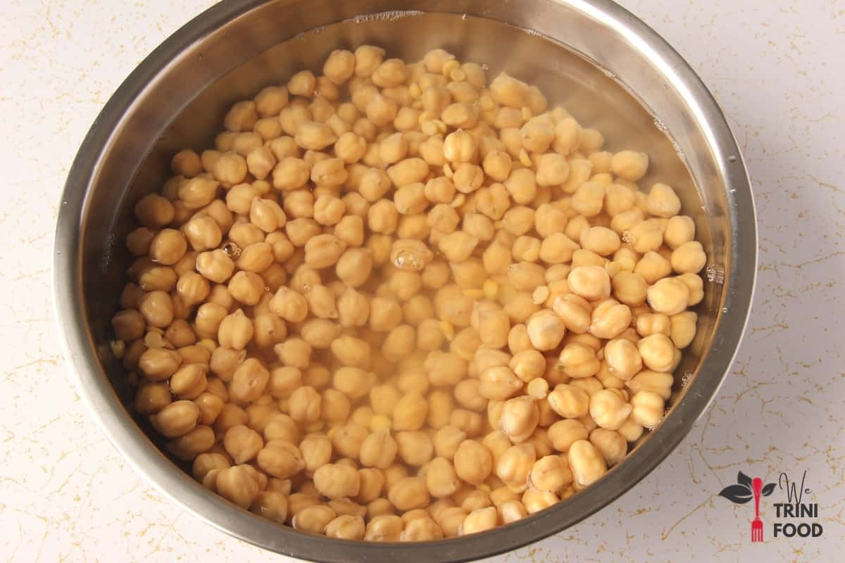 soaked channa and dhal